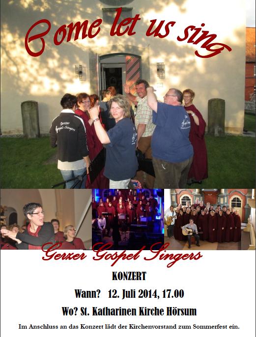 Gerzer Gospel Singers 2014