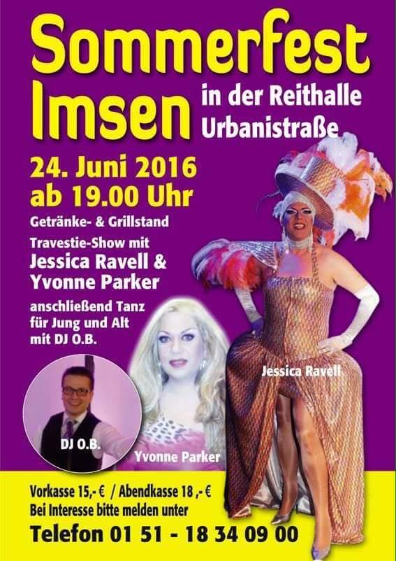 Sommerfest Imsen, Travestie-Show, Musik DJ O.B., DJ Oliver Bahr Freden www.dj-ob.de